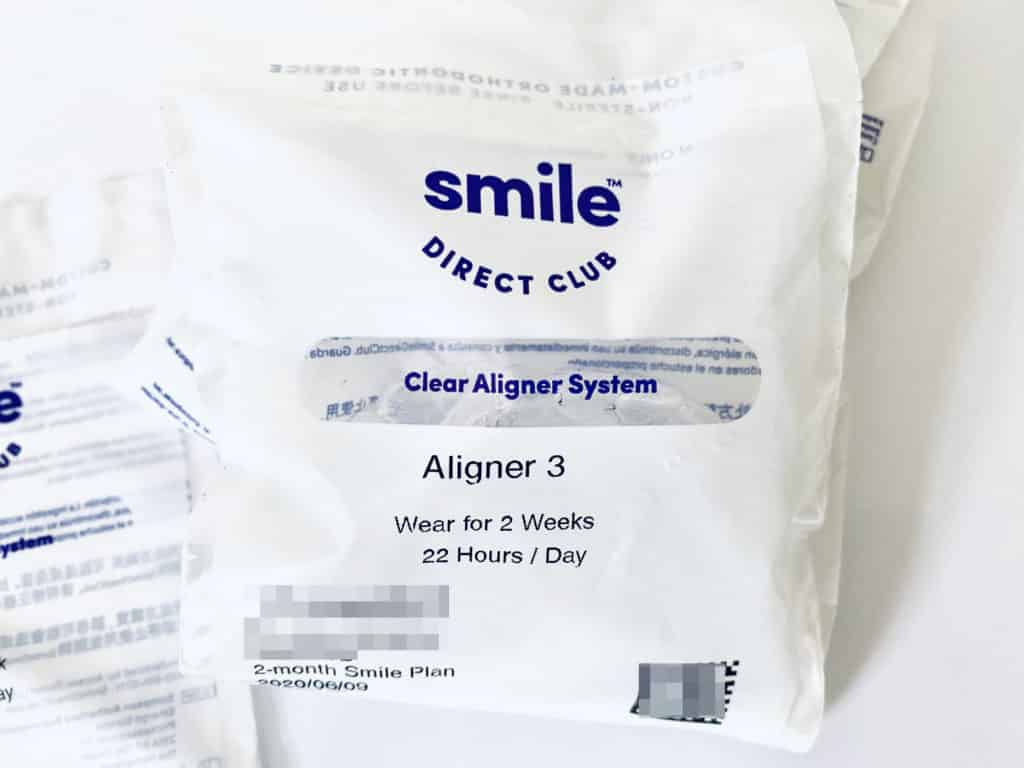Smile Direct Club aligner bag